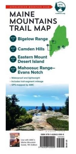 AMC Maine Mountains Trail Map: Maps 3-6
