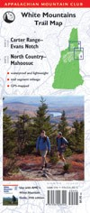 AMC Carter Range-Evans Notch/North Country-Mahoosuc Trail Map