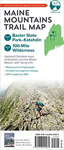 AMC Maine Mountains Trail Map: Baxter State Park-Katahdin and 100-Mile Wilderness