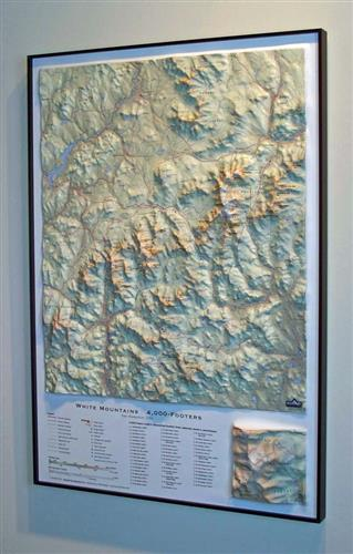 White Mountain 4000-Footers Raised Relief Map