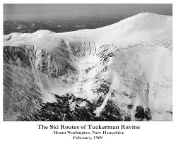 Ski Routes of Tuckerman Ravine Poster